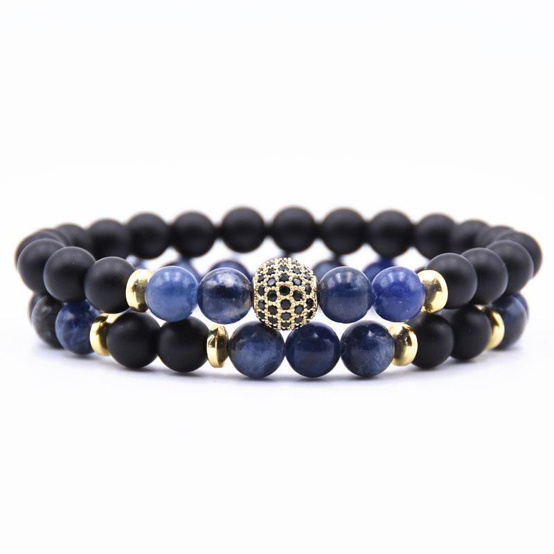 Marble Stone Bracelet Charm Jewelry Set