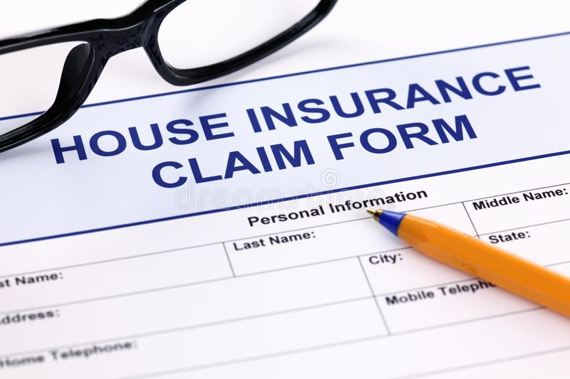 House Insurance Claim Form With Glasses And Ballpoint Pen Aff