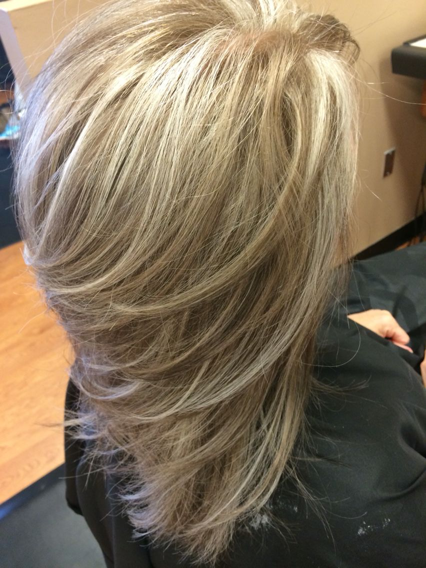 Highlight Lowlight Blonde Dark Blonde Layers Medium Length Hair