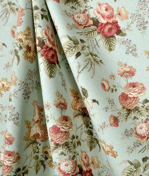 Waverly Emma S Garden Mist Fabric Fabric Decor Floral Drapery Fabric Fabric Shower Curtains