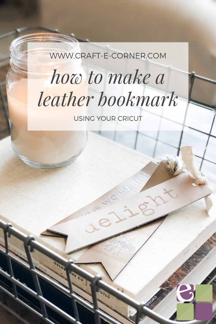 Leather Bookmark // DIY Leather Bookmark using Your Cricut // Cricut Leather Project