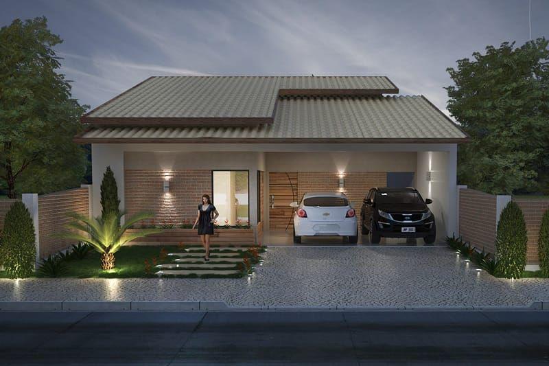 Casa para terreno de 10 por 20 metros casas pinterest for Casa moderna 10 x 20