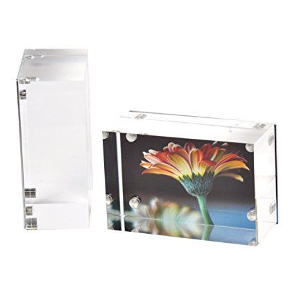 Amazonsmile 2 Pk Wallet Sized Magnetic Photo Frame Elegantly
