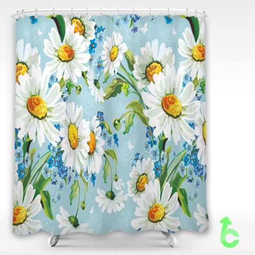 Cheap Drawing Flowers Daisies Shower Curtain Cheap Curtains