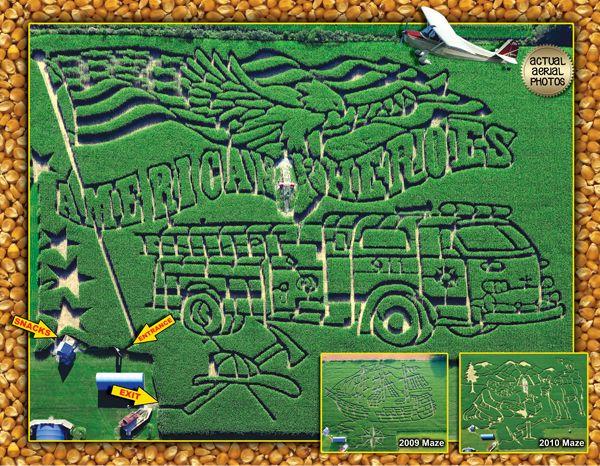 Coolspring Corn Maze 2011 American Heroes Corn Maze Day Trips Trip