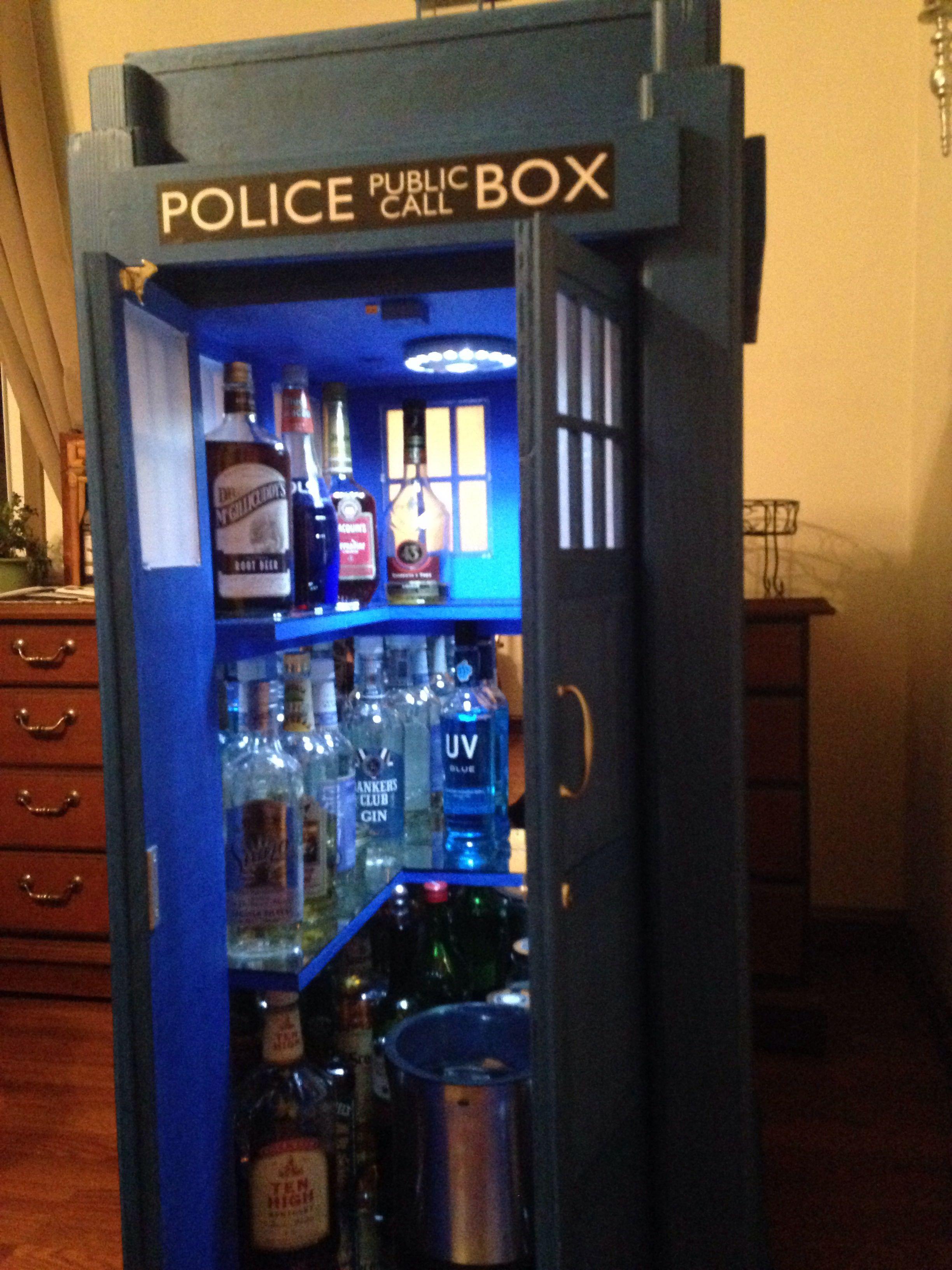 Tardis Liquor Cabinet | MF Cabinets