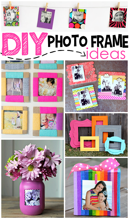 Diy Photo Frame Ideas Photo Frame Crafts Diy Photo Frames
