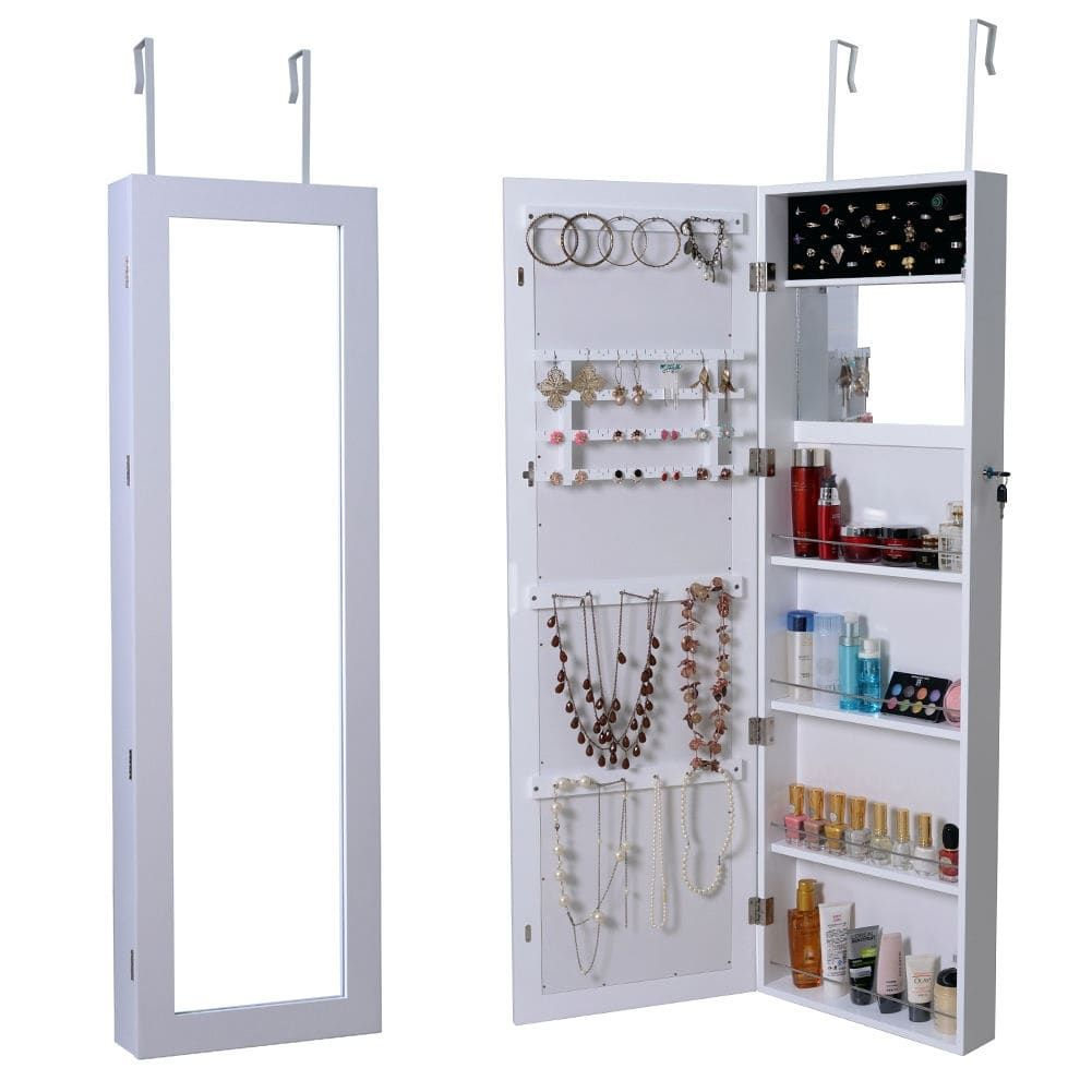 mirrored new luxury organizer black fresh of armoire w mirror elegant cabinet jewelry ideas stand
