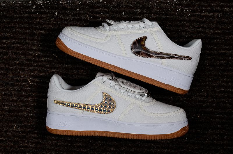 Chaussures De Mode Nike Air Force 1 Low Af1 Travis Scott White