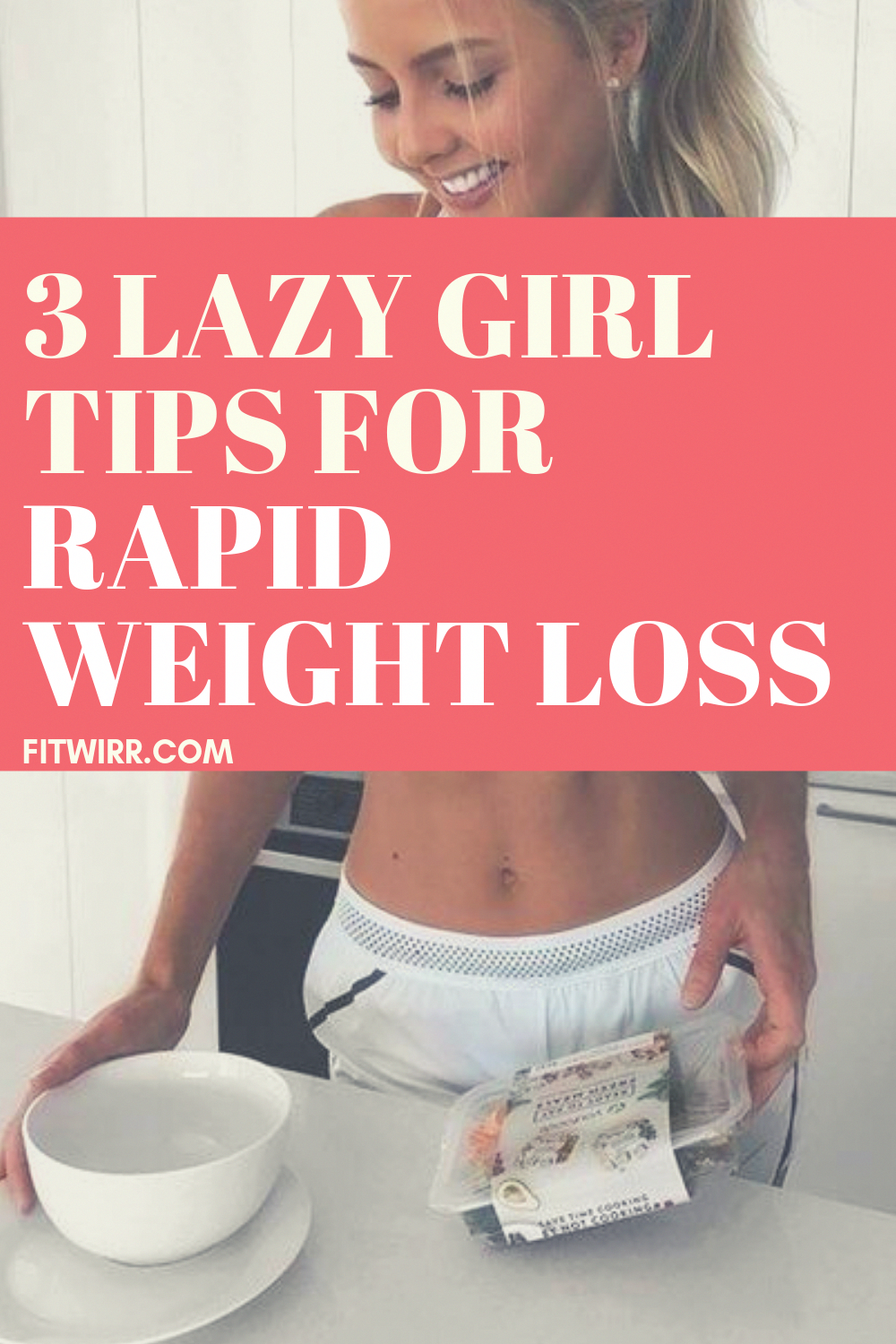 3 lazy girl's tips for rapid weight los. Looking to lose weight but can't and don't want to make a lot of efforts ? here are the 3 lazy girl's tips to losing weight easy and fast.  #rapidweightloss #BestDietFoods