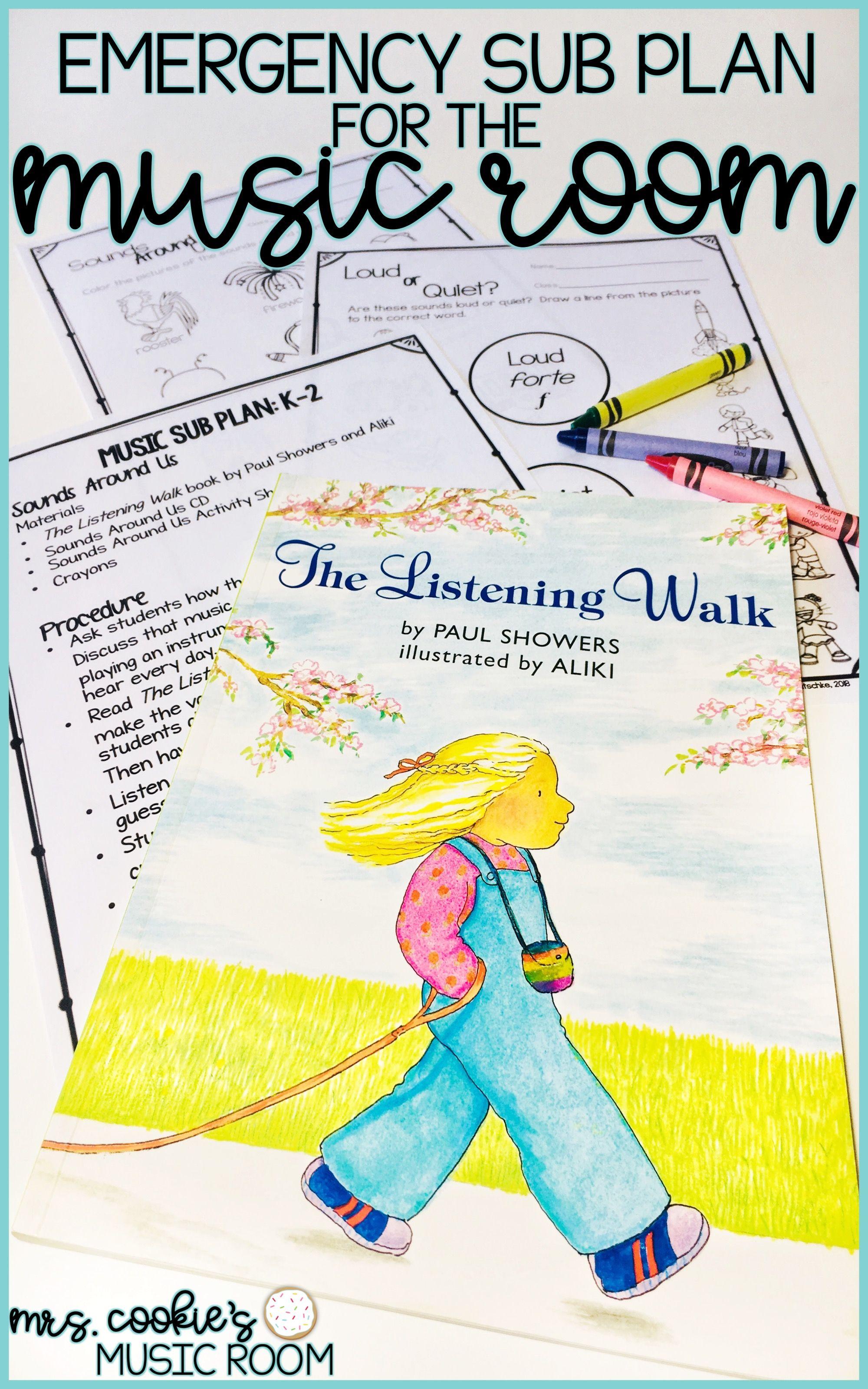 Music Sub Plan For The Listening Walk Music Sub Plans