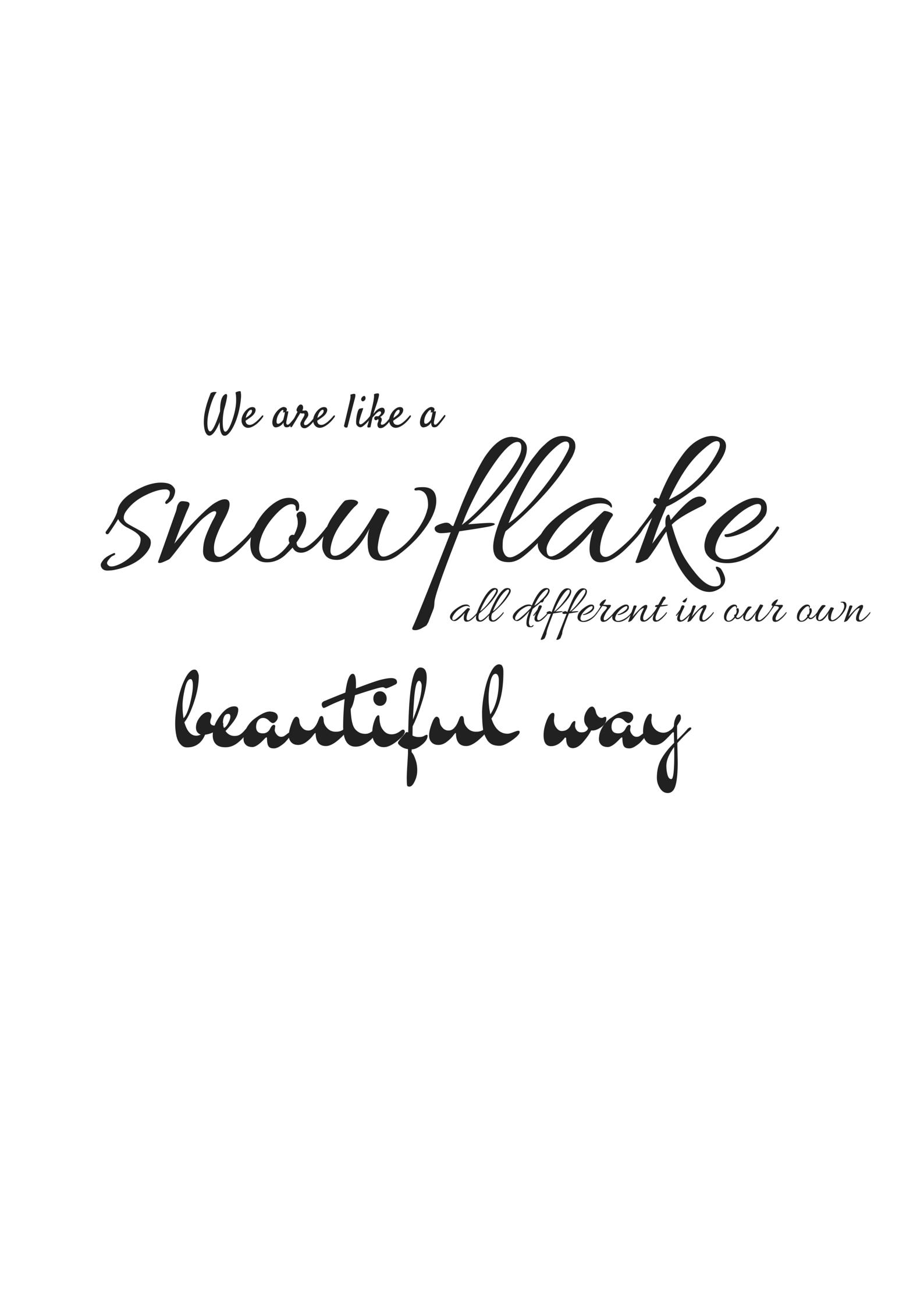 Like a snowflake – Du bist einzigartig und wunderschön | Fräulein Weiss