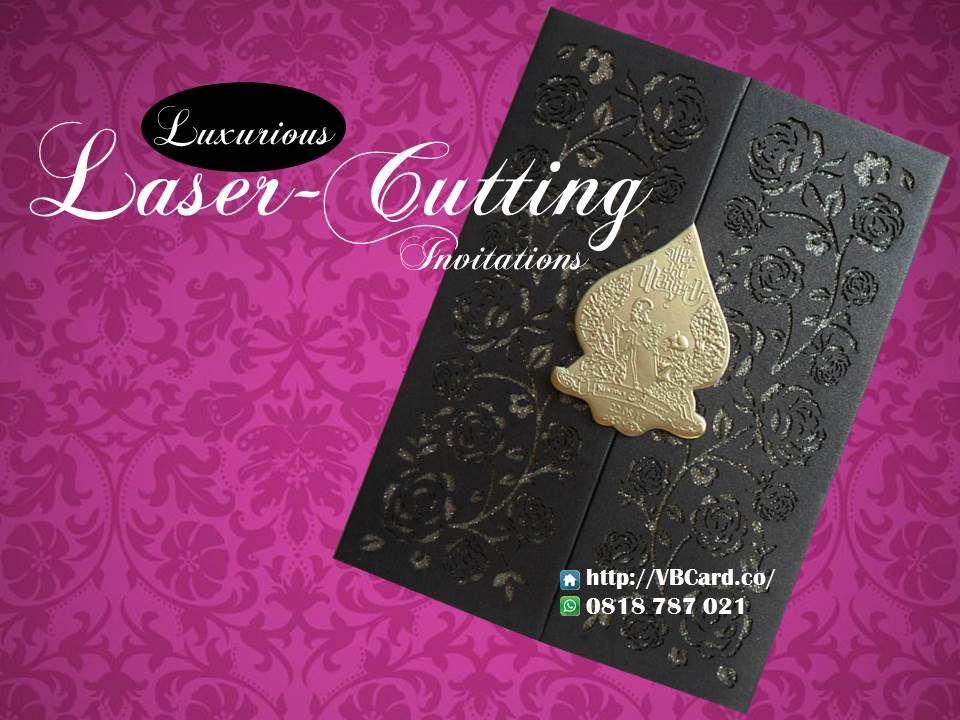 Desain Kartu Undangan Pernikahan Unik Elegan Laser Cutting Vb Card
