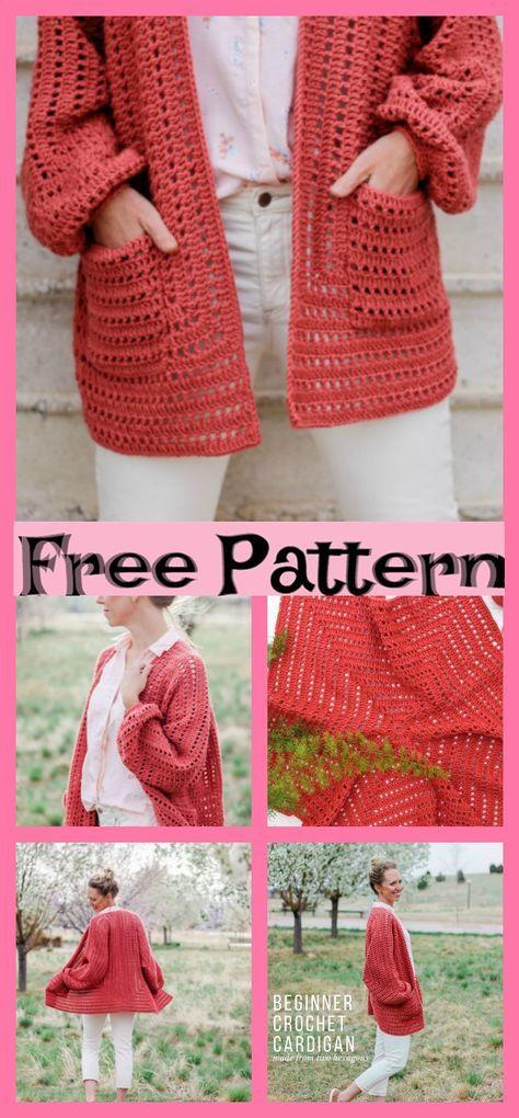 8 Stylish Crochet Cardigan Free Patterns #crochetsweaterpatternwomen