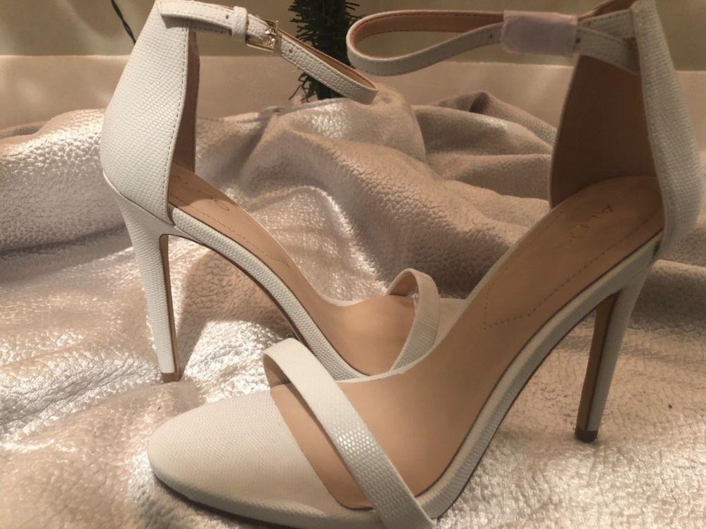 4f19ed7526 Aldo Womens Melawet White Open Toe Heels Sandals Shoes size 8.5 #fashion # clothing #shoes #accessories #womensshoes #heels (ebay link)