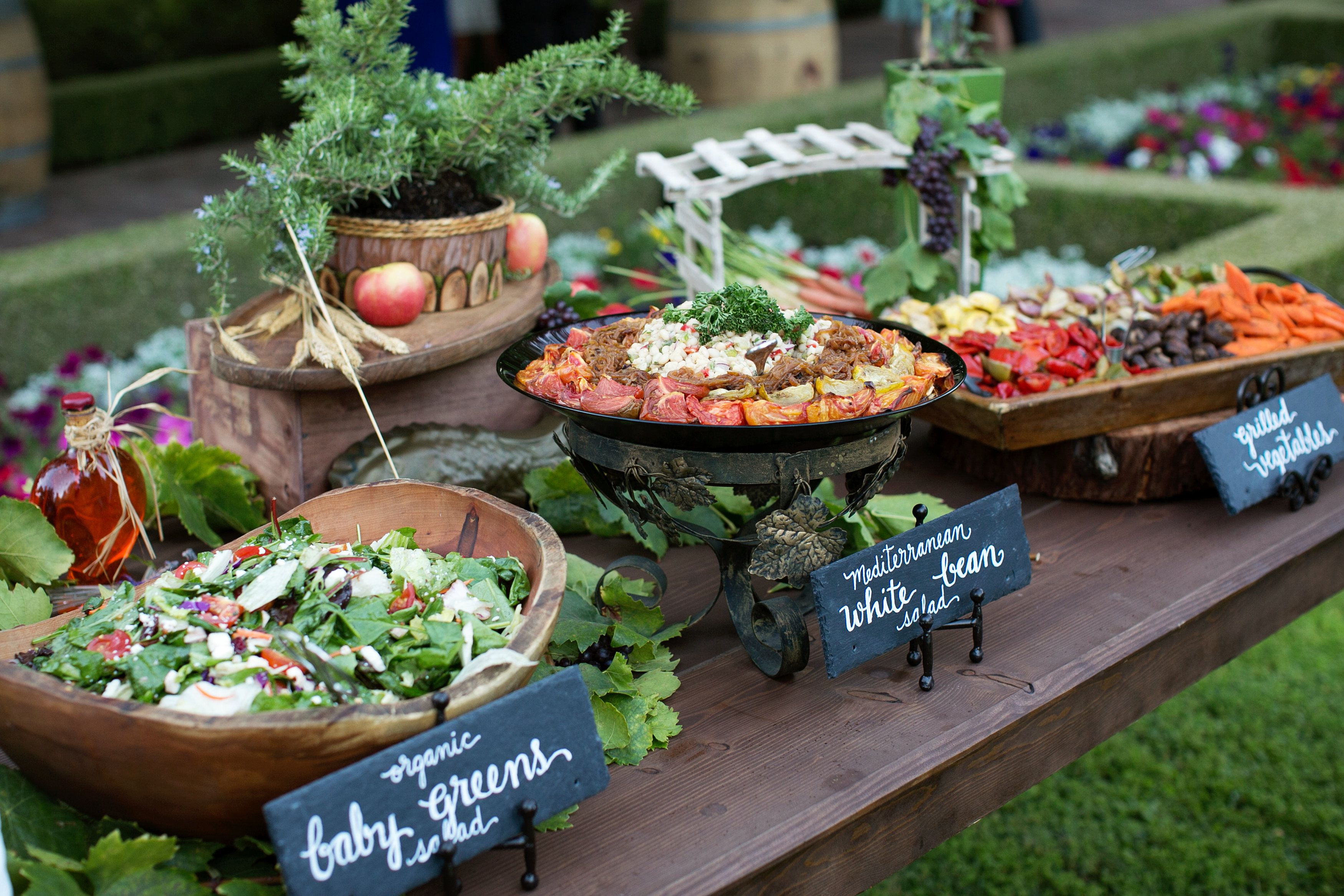 Food Work Stations In Back Yard And The Food Stations