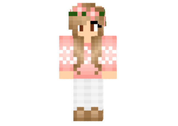 Autumn Fall Girl Skin For Minecraft Free Download