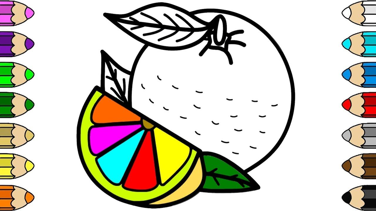 Lemon Coloring Page Drawing For Kids Drawing For Kids