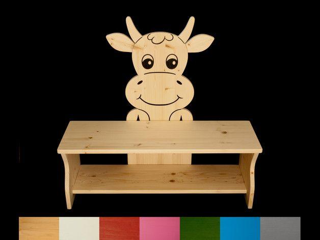 Bänke - Kinderbank Kuh Schuhbank Schuhregal 80 cm - ein Designerstück von Kanaholz bei DaWanda