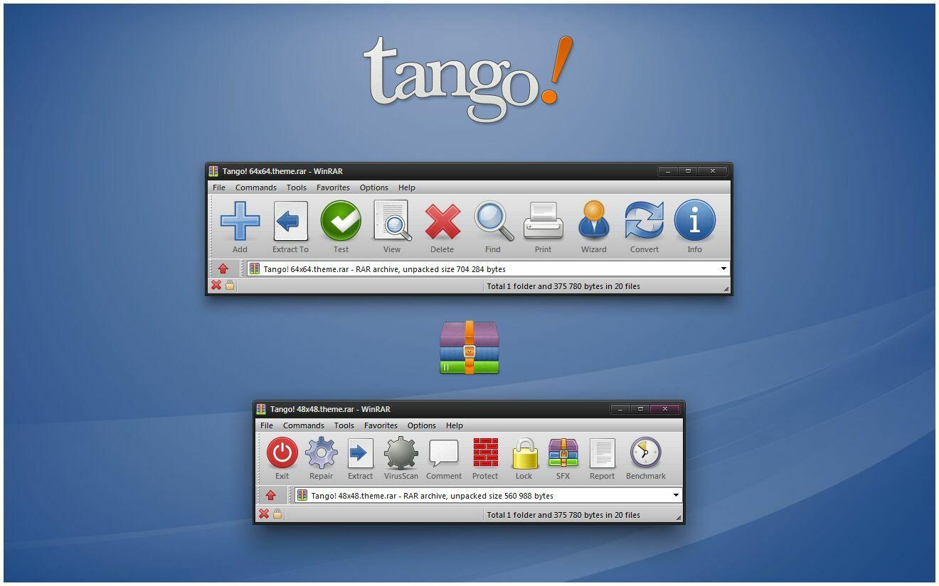 Tango 7 Zip Theme And Winrar Theme Cleodesktop Mod Desktop