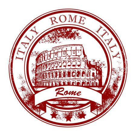 Download - Stamp Rome, Italy — Stock Illustration #11372528
