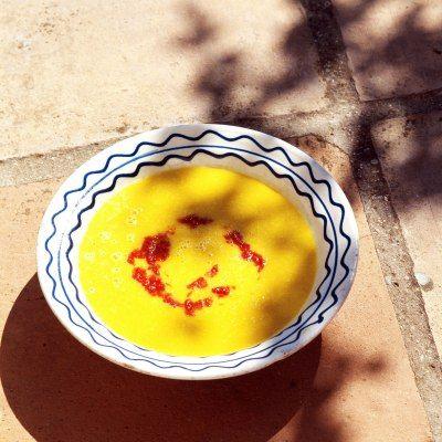 Supa de porumb cu sos chilli