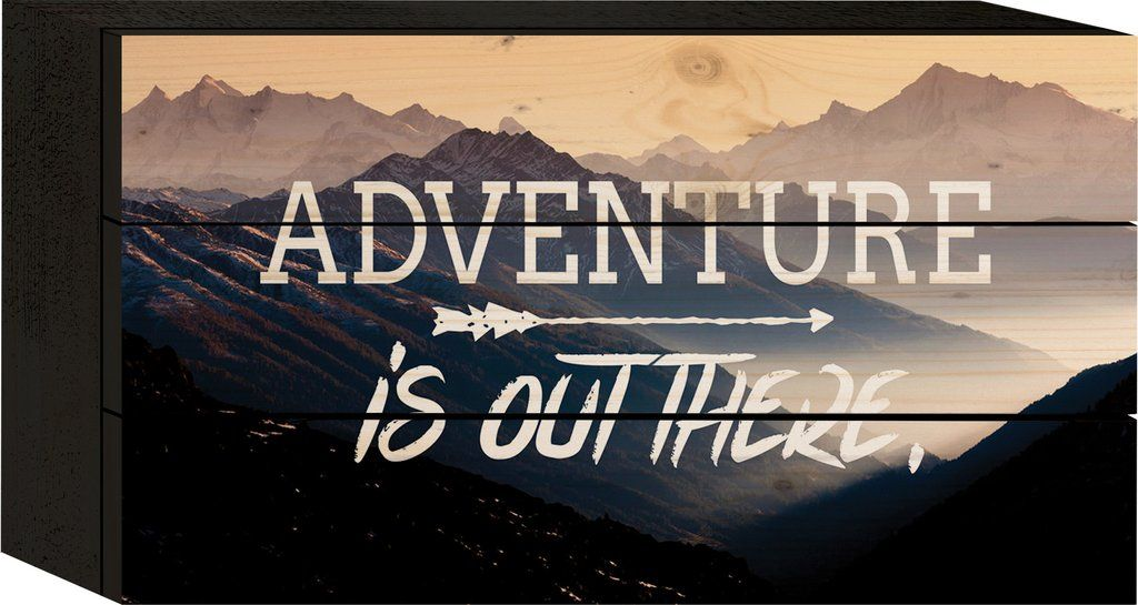 Adventure is Out There Tabletop Sign - PuzzleMatters