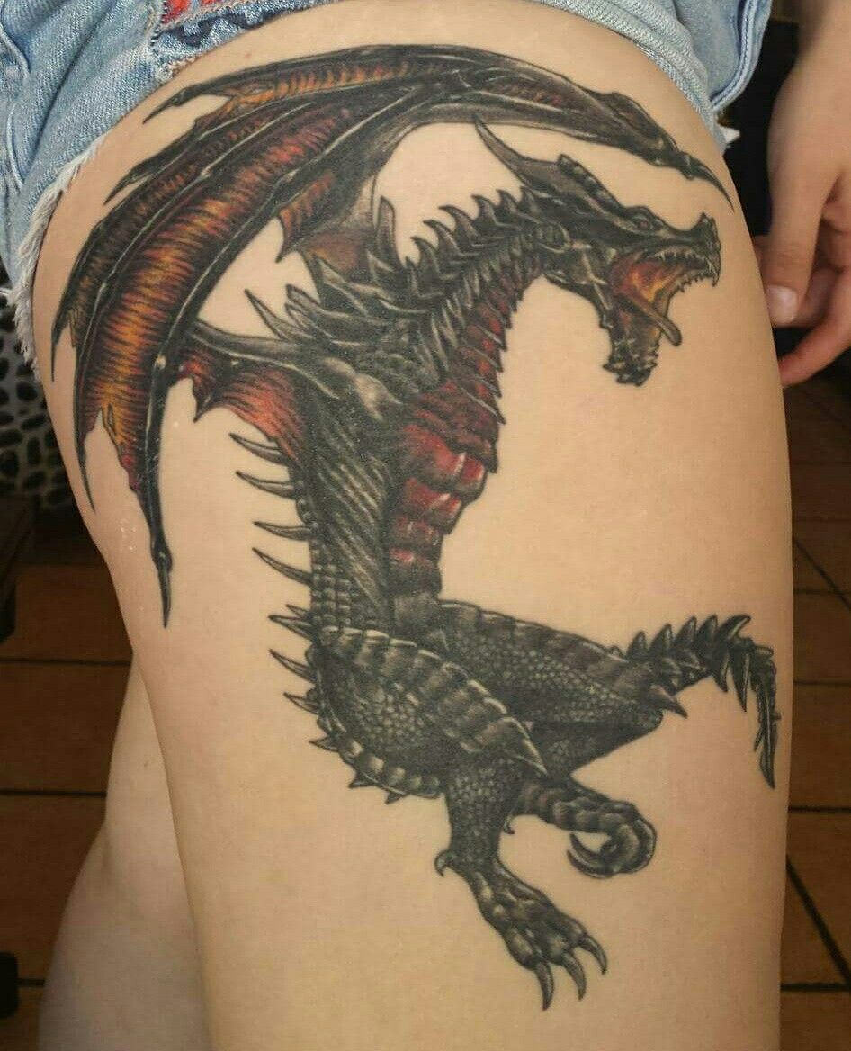 My Healed Alduin Tattoo From Skyrim Hail Sithis Ink Inspiration
