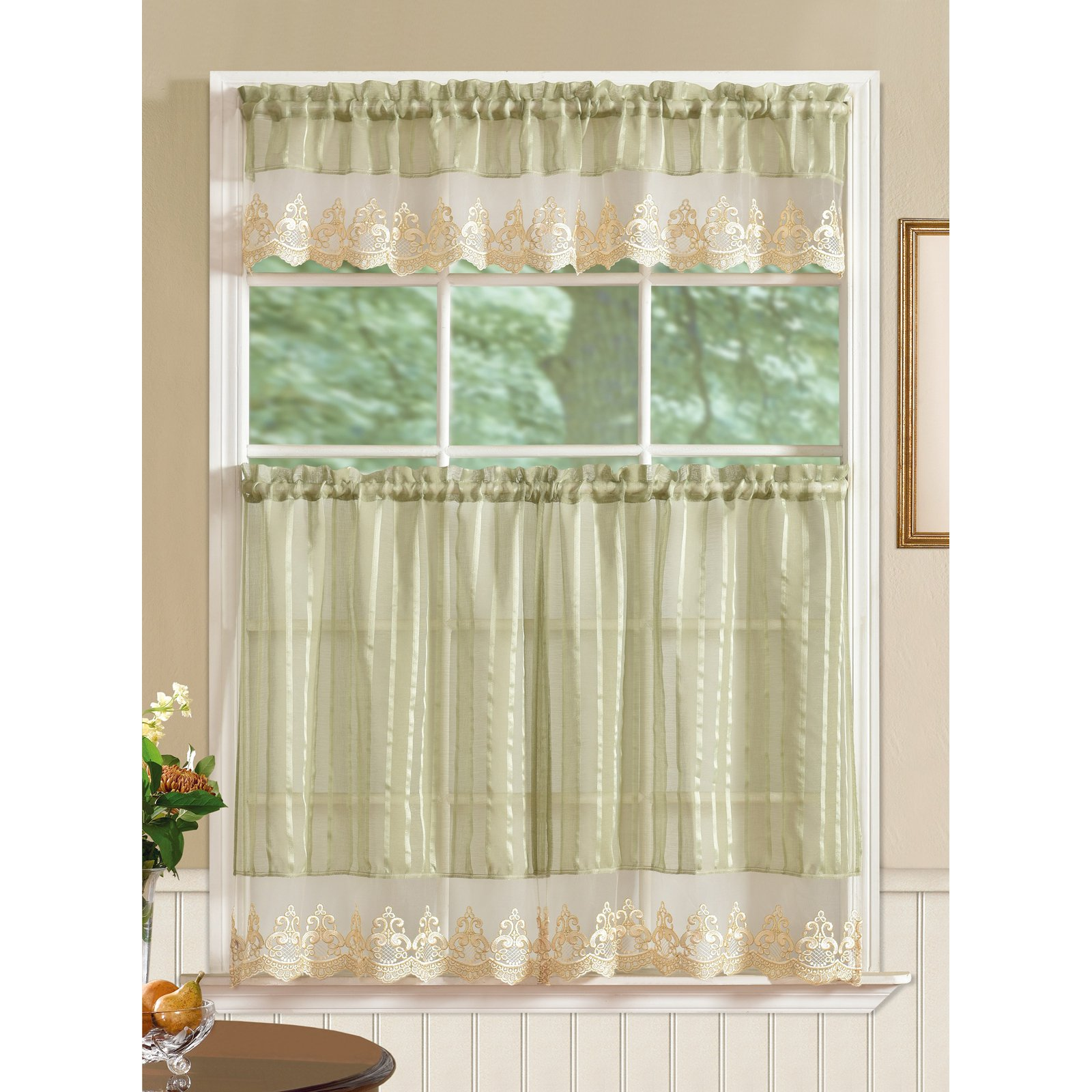 Rt Designers Collection Bella Kitchen Curtain Tier And Valance Set
