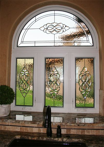 Leaded Beveled Kitchen Stained Glass Provides Privacy Http