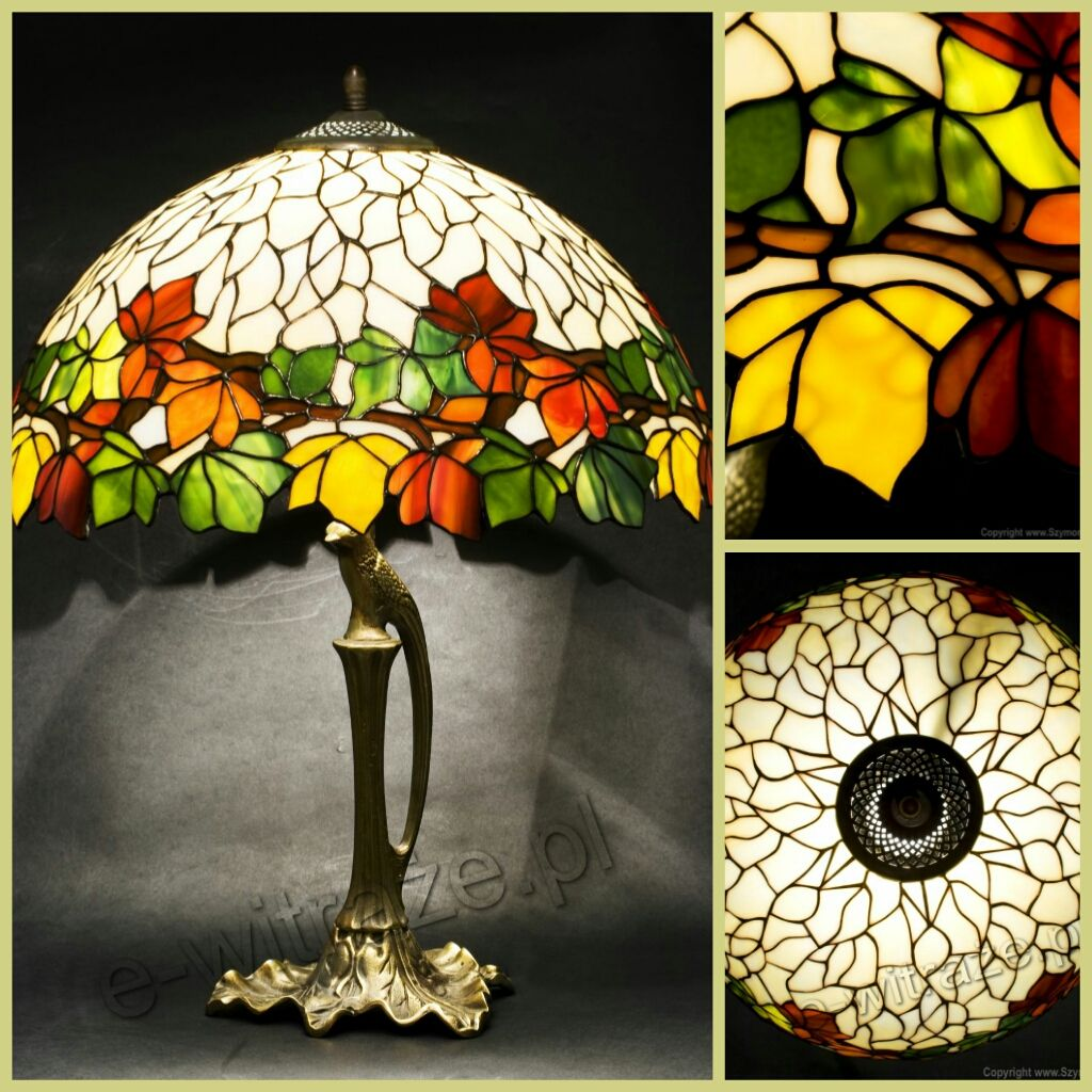 Louis comfort tiffany studios new york walnut leaf table lamp louis comfort tiffany studios new york walnut leaf table lamp handcrafted by wieniawa piasecki mozeypictures Image collections