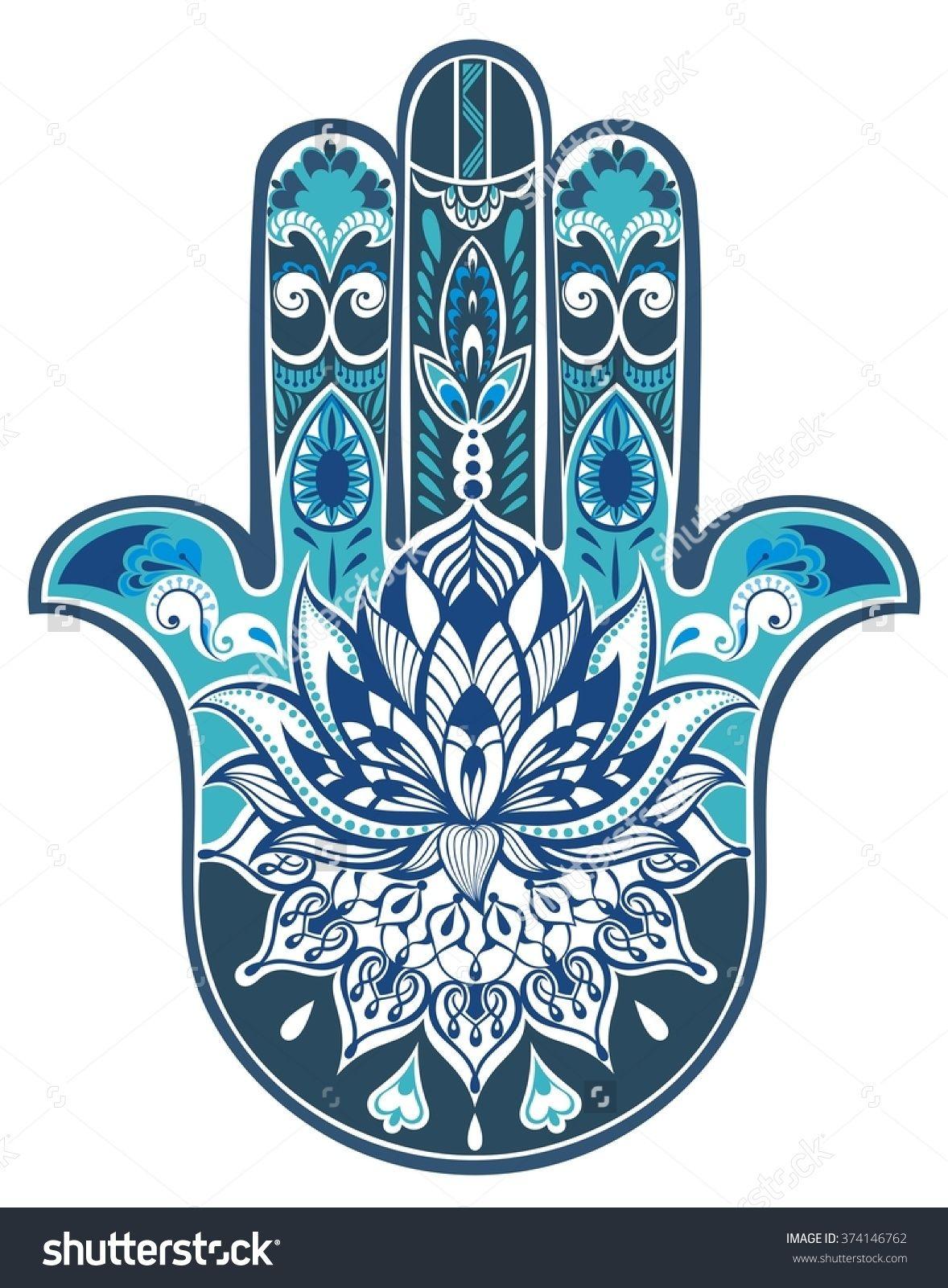 Vector Indian Hand Drawn Hamsa Symbol 374146762 Shutterstock