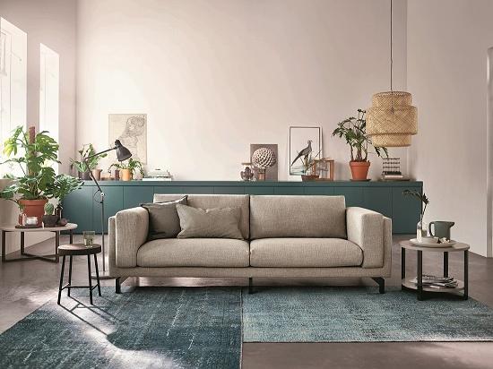 Nockeby 3 zitsbank ten lichtgrijs hout banks living rooms and hemnes - Bank beige ikea ...