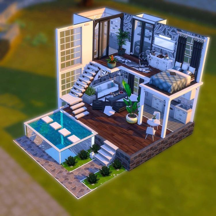 Pin By Pichan Chan On Sims Sims Building Sims 4 House Design Sims House