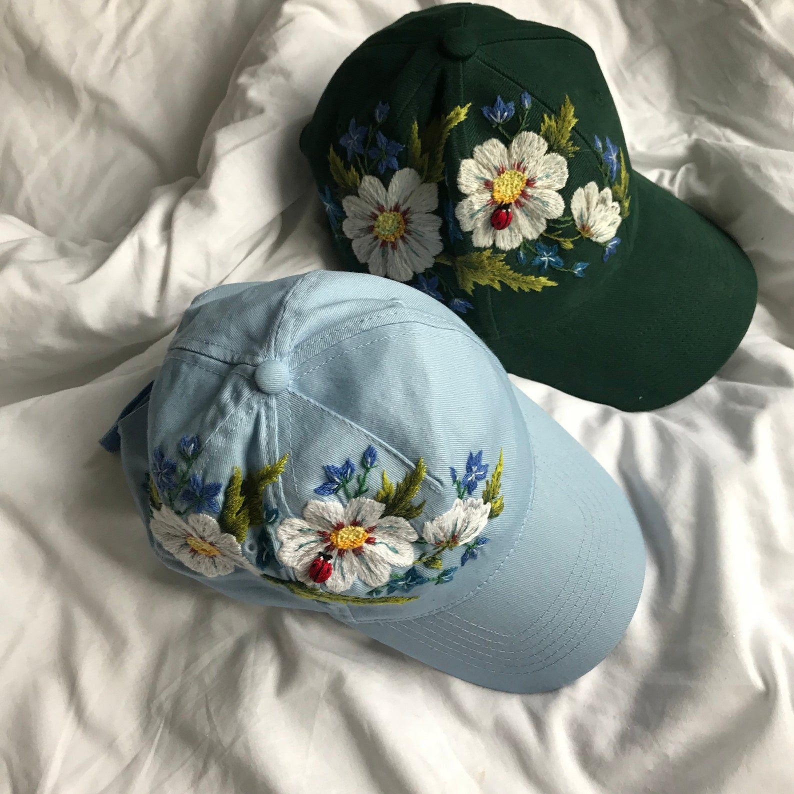 Hand Embroidered Baseball Cap Hand Embroidery Hat Etsy In 2020 Hat Embroidery Mom Hats Hand Embroidered