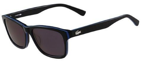 689042f2ae14 Lacoste Men s Classic Wayfarer Sunglasses - L683S (Black Blue Black ...