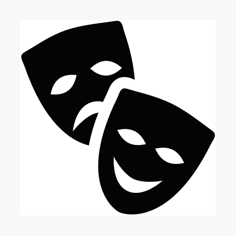 Theatre Masks Photographic Print By Shabzdesigns Theatre Masks Mask Drawing Theatre Symbol
