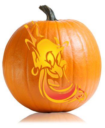 Disney's Aladdin Genie Pumpkin Stencil | Disney Pumpkin ...