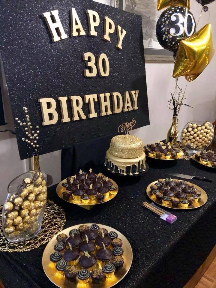 Blackandgold Surprise 30th Birthday Birthday Surprise Party 40th Birthday Party Decorations