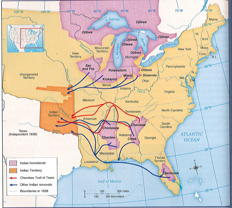 Trail Tears Map