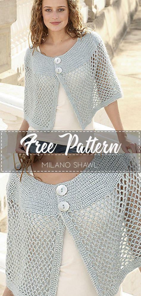 Milano Shawl – Pattern Free  #shawlcrochetpattern
