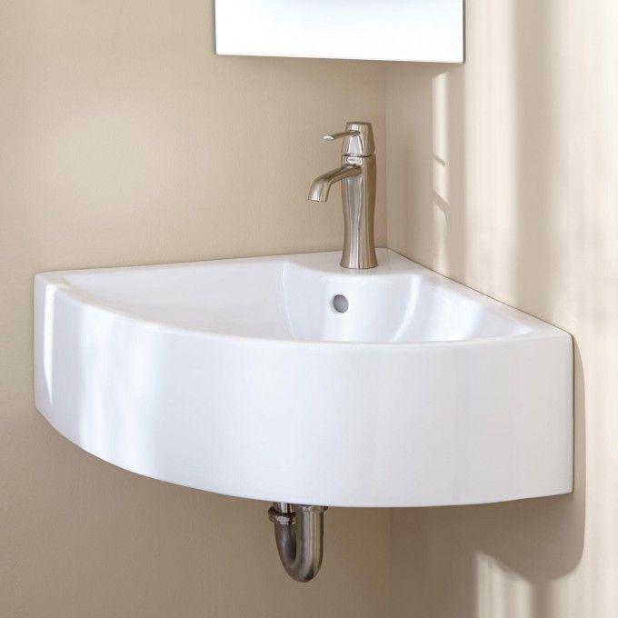 Gordy Corner Wall Mount Sink Corner Sinks Bathroom Sinks Bathroom Wall Mounted Bathroom Sinks Small Bathroom Solutions Small Bathroom Sinks Corner wall mount sink