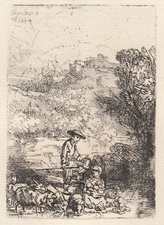 Rembrandt - Le Bergerer et sa Familie