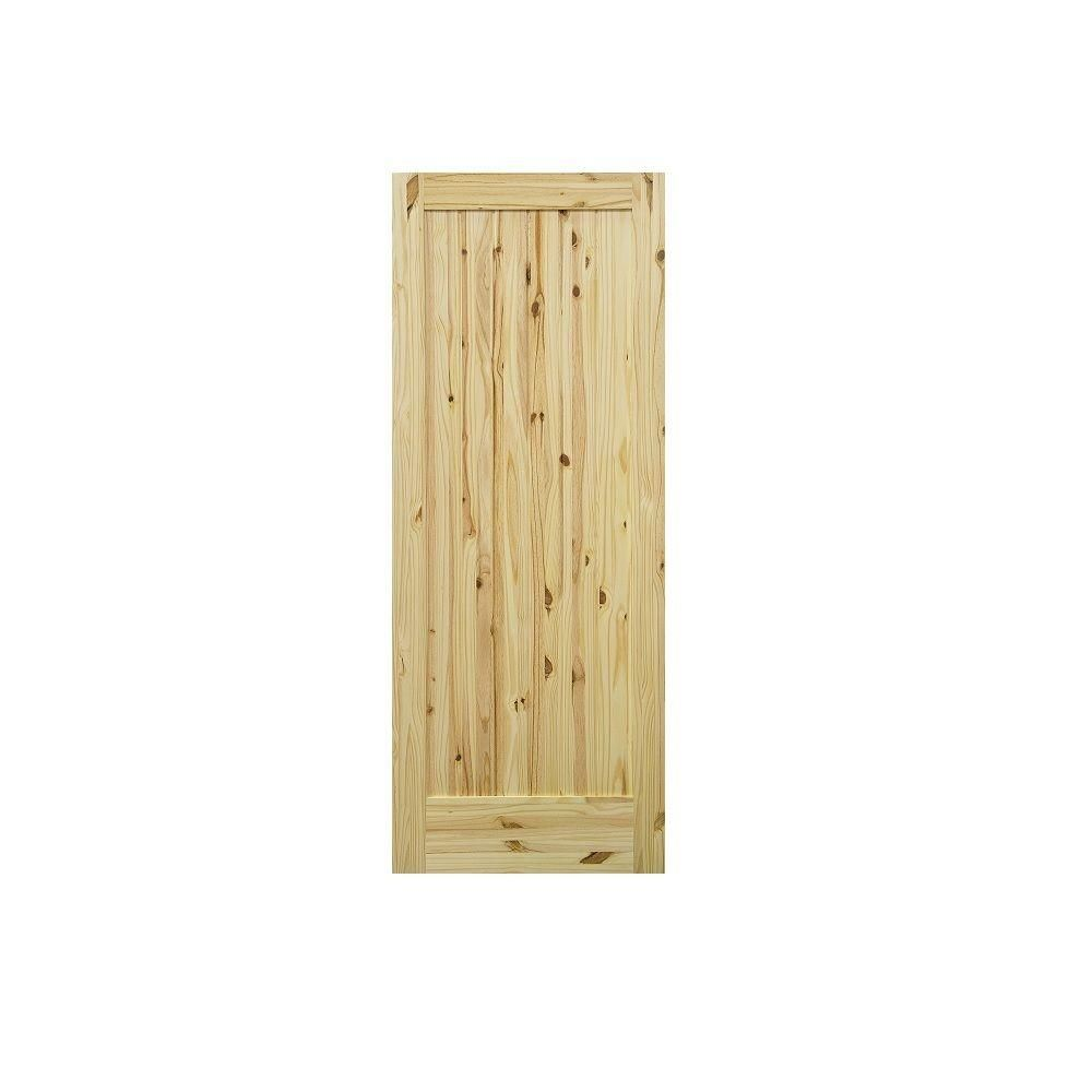 Krosswood Doors 36 In X 80 In 1 Panel Knotty Pine Right Hand