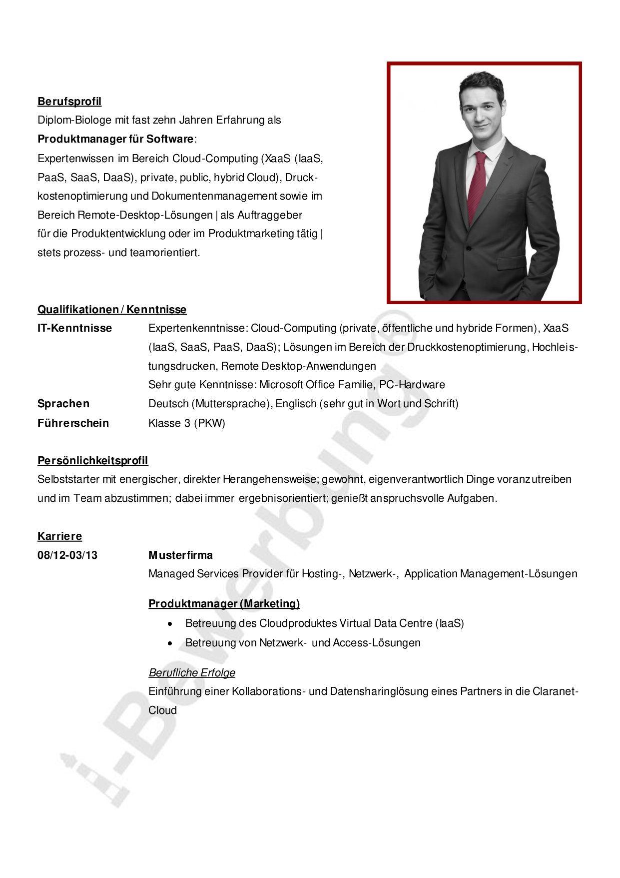 Ein Ratgeber Fur Ihre Karriereplanung Lebenslauf Beispiel I