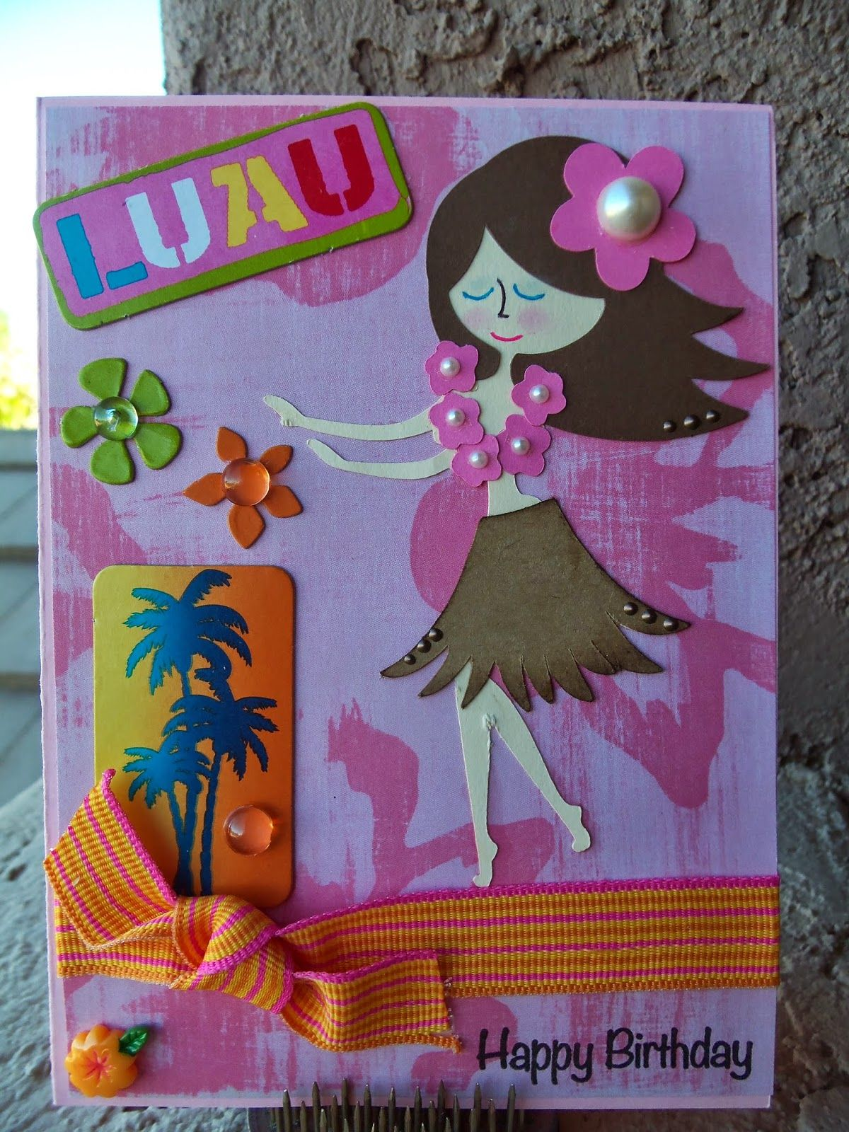 Doubleclick aka abusybee happy birthday luau hula girl new