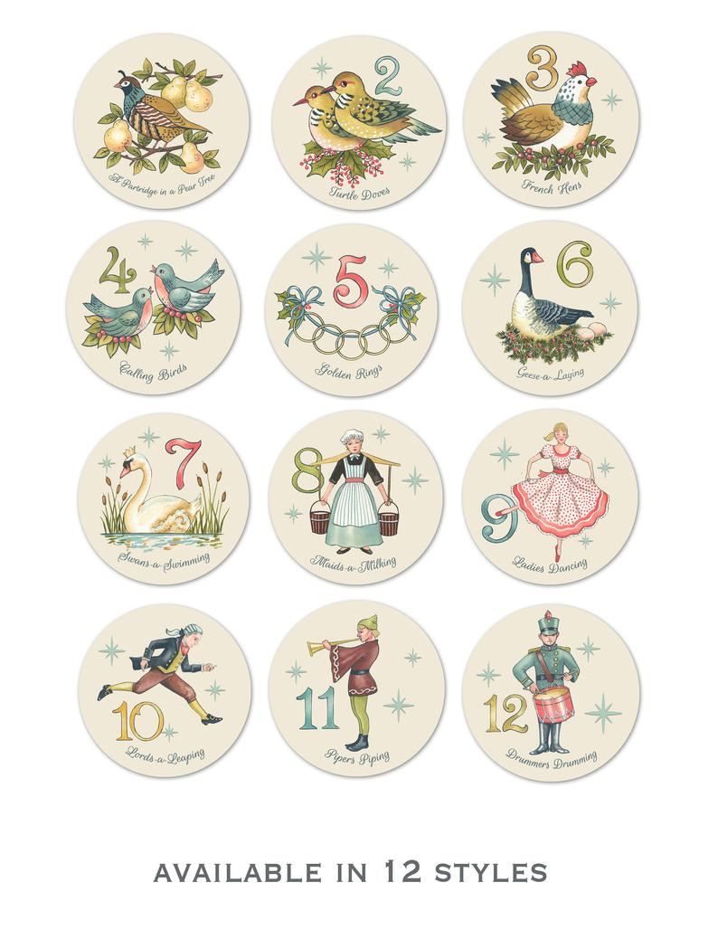 Twelve Days Of Christmas Print 12 Days Partridge Turtle Etsy In 2021 Christmas Prints 12 Days Of Christmas Twelve Days Of Christmas