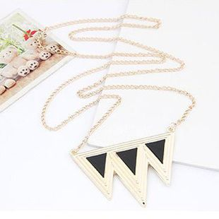 Free shipping,Min order is 15$(Mixed order)Fashion personalized triangle pendant necklace, Popular European style, New arrival on AliExpress.com. $1.08