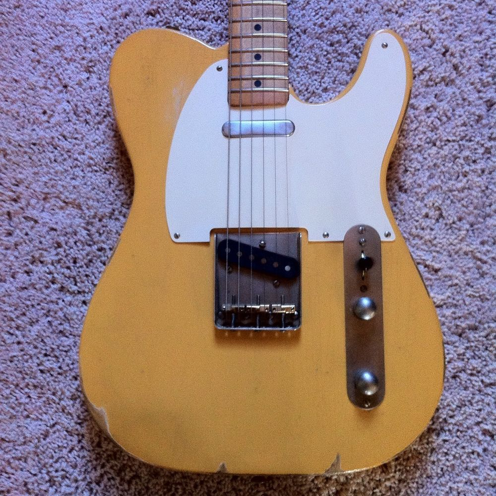 vintage 50 39 s ri fender road worn telecaster electric guitar 1952 fender guitars in 2019. Black Bedroom Furniture Sets. Home Design Ideas