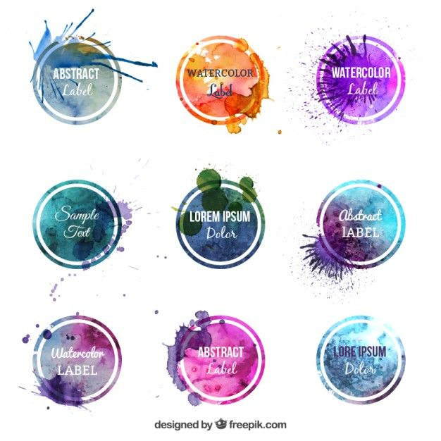 Download Colorful Watercolor Labels For Free Watercolor Splash Watercolor Logo Flower Logo
